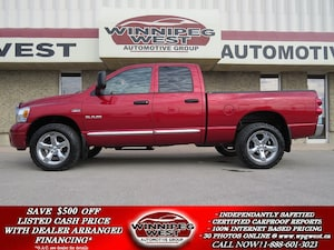 2008 Dodge Ram 1500 LARAMIE CREW 4X4, 5.7L HEMI,LEATHER, LOCAL TRADE!