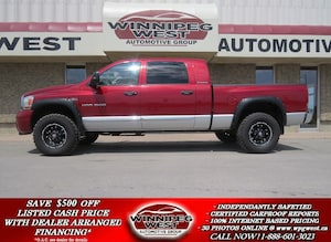 2006 Dodge Ram 1500 LARAMIE MEGA CAB 4X4, LEATHER, SUNROOF, NAV, DVD,