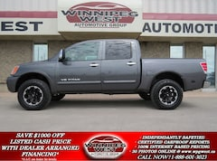 2012 Nissan Titan LIFTED SL EDITION CREW CAB 4X4, LEATHER, SUNROOF, Truck