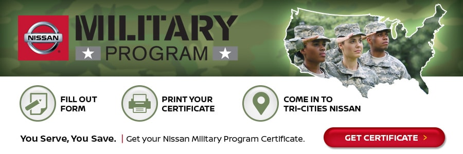 Nissan Military Program serving Bristol & Kingsport TN