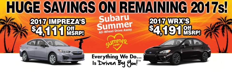 2017 Leftover Blow-Out Special at Tri-City Subaru