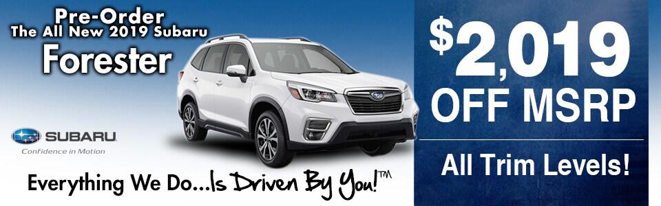 Pre-Order the new 2019 Subaru Forester at Tri-City Subaru