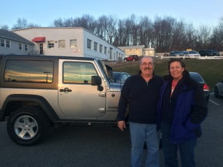 Photo Of Customers With New Jeep Vehicle - Troiano Chrysler Jeep Dodge