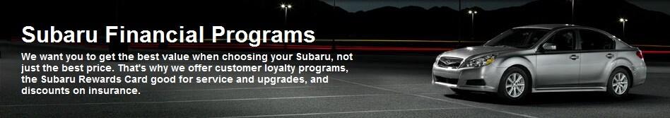 Subaru Financing Programs In Tucson Az