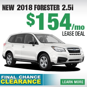 New 2018 Subaru Forester Lease Deal
