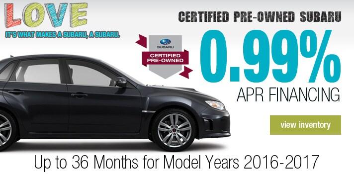 Certified Pre-Owned Subaru  Deal