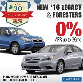 2016 Forester & Legacy Finance Deal