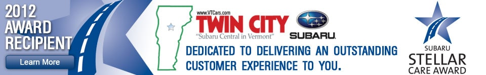Get your new 2013 Subaru at Twin City Subaru near Montpelier, and get outstanding customer service!