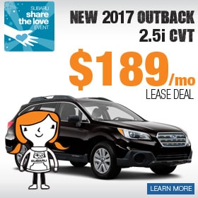 New 2017 Outback Lease Deal