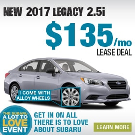 2017 Subaru Legacy Lease Deal