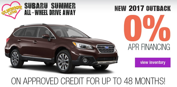 New Subaru Outback APR Deal