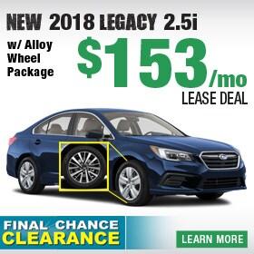 New 2018 Subaru Legacy Lease Deal