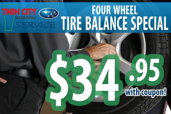 Subaru Tire Balance Coupon