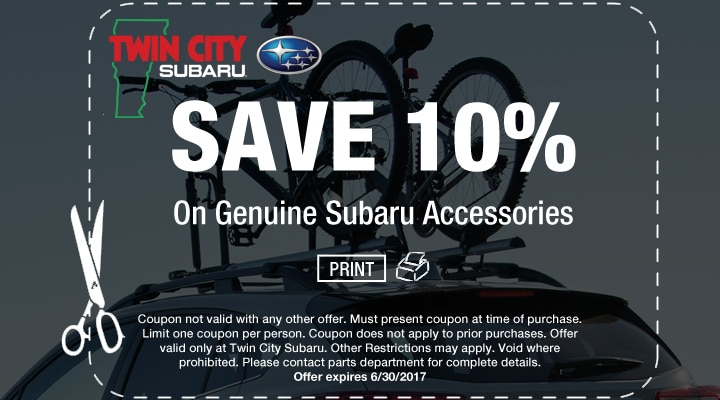 10% Off Subaru Accessories with Coupon