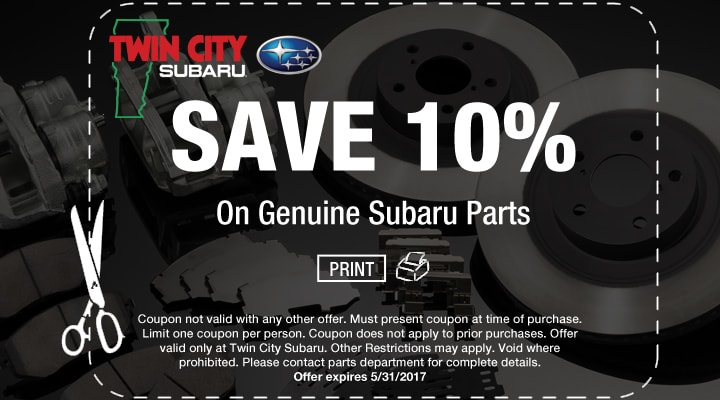 10% Off Subaru Parts with Coupon