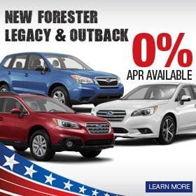 0% APR on Select Subaru Models