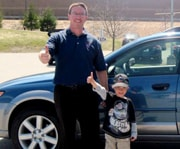 Vermont Subaru Employee Jim Glassford & Happy Customer