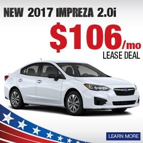 2017 Subaru Impreza Lease Deal
