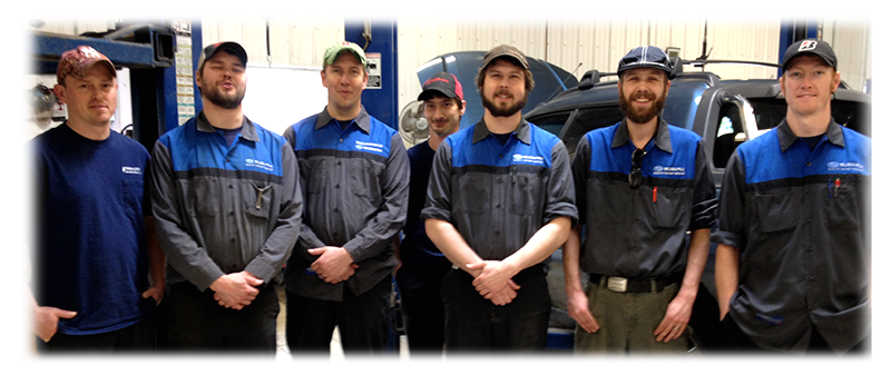 Twin City Service Department Subaru Service Technicians