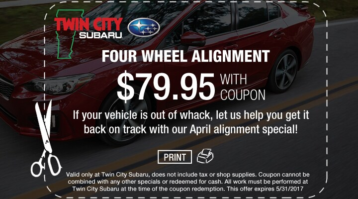 Subaru Four Wheel Alignment Coupon