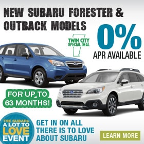 0% APR on Select Subaru Models