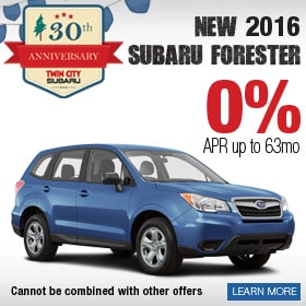 2016 Forester 0% APR Deal