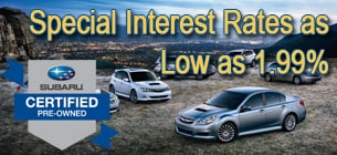 Certified Pre-Owned Subaru Low Finance Rates!