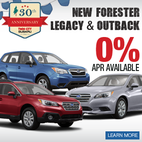 2016 Forester, Outback & Legacy Finance Deal