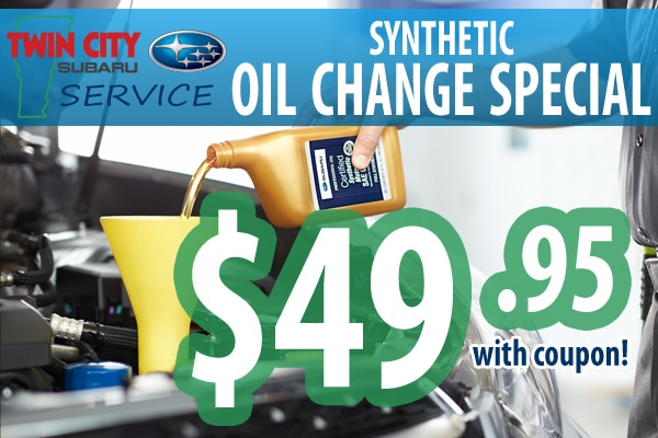 Subaru Synthetic Oil Change Coupon