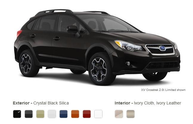 subaru xv crosstrek colors crystal black silica