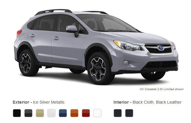 subaru xv crosstrek colors ice silver metallic