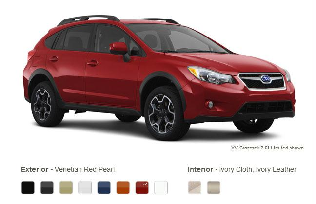 subaru xv crosstrek colors venetian red pearl