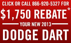 New Dodge Dart - $1,750 Rebate - Arkansas