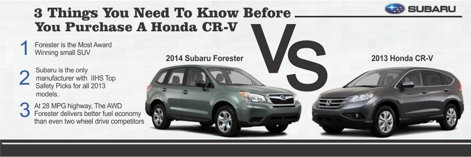 Ultimate subaru new subaru dealership in fredericksburg for Honda crv vs subaru forester