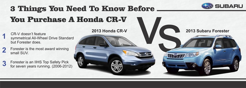 Ultimate Subaru Compares the Subaru Forester to the Honda CR-V