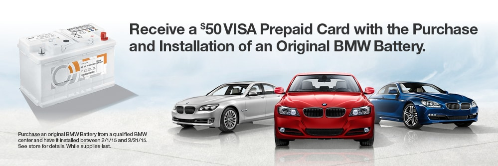 50 Dollar BMW Battery Rebate at AutoNation BMW Bellevue WA