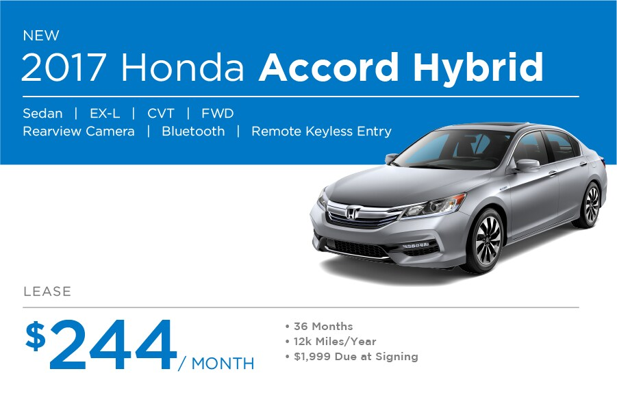 Honda Accord Hybrid Special Offer