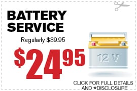 Battery Service Special