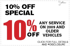 Percent Off Any Service on 2009 & Older Vehicles