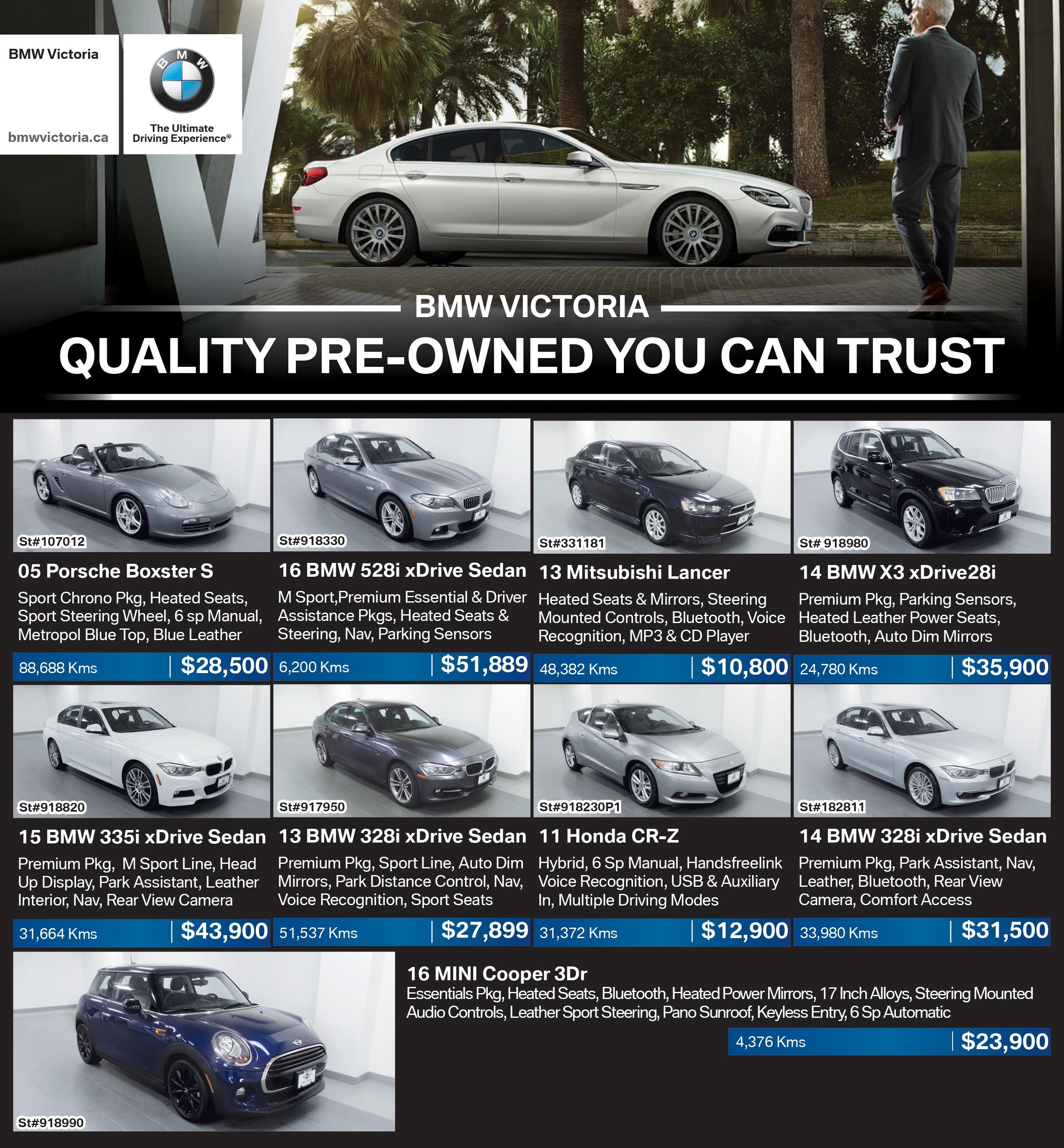 New BMW, MINI Dealership In Victoria, BC