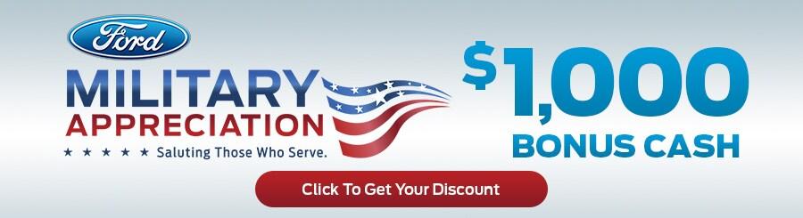 Ford Military Bonus Cash near Cookeville TN