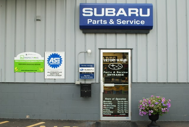 Subaru parts and service entrance in Somerset, NJ