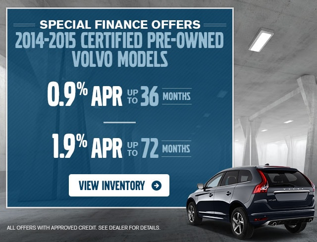 Special Finance Offers for CPO Volvo models