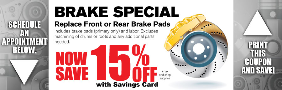 Money Saving Auto Service Coupon from Volvo of Dallas for Brake Special