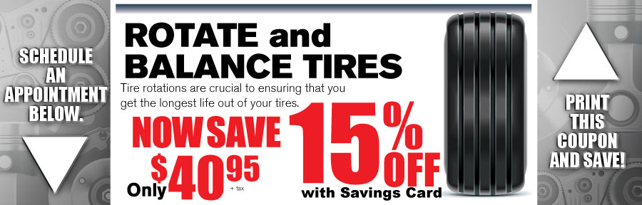 Money Saving Auto Service Coupon from Volvo of Dallas for Rotate and Balance Tires