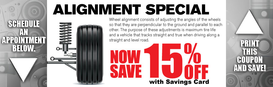 Money Saving Auto Service Coupon from Volvo of Dallas for Alignment Special