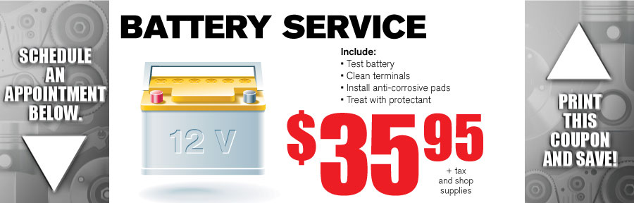Money Saving Auto Service Coupon from Volvo of Dallas for Battery Service