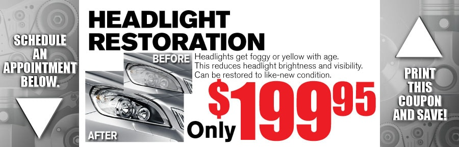Money Saving Auto Service Coupon from Volvo of Dallas for Headlight Restoration
