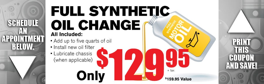 Money Saving Auto Service Coupon from Volvo of Dallas for Full Synthetic oil Change