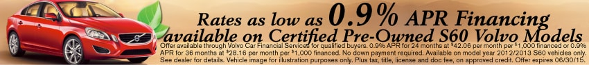 Volvo Certified Pre-Owned Sales